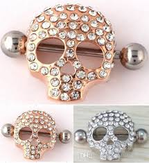 nipple rings jewelry images 2018 2015 new style body jewelry skeleton skull shield nipple bar jpg