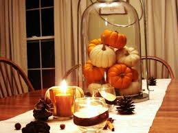 Small Pumpkins Decor Romantic Dining Table Decoration With Small Pumpkins