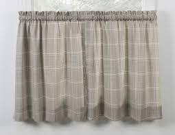 morrison plaid print cotton twill lined scallop valance window