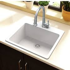 quartz classic 25 x 22 top mount kitchen sink