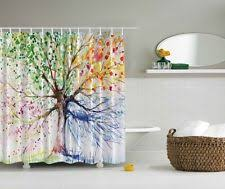 Shower Curtain Blue Brown Unbranded Geometric Contemporary Shower Curtains Ebay