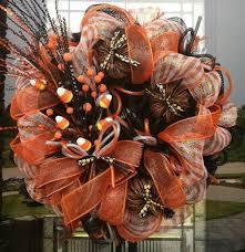 dazzling thanksgiving decoration using orange ribbon also neat