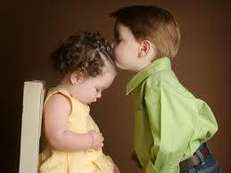 Cute Child by Cute Baby Kiss Wallpaper
