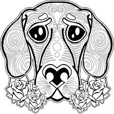 coloring page dog coloring pages for adults coloring page and