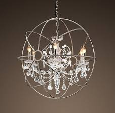 Sphere Chandelier With Crystals Chandelier Inspiring Sphere Chandelier With Crystals Sphere