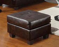 Brown Ottoman Brown Leather Ottoman By Acme 15073