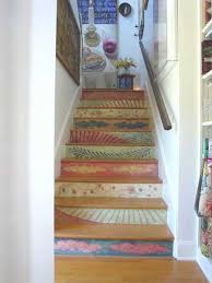 Stairs Decorations by Revamp Staircase Design With Easy Stencil Decoration Patterns And
