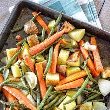 roasted vegetables with honey mustard glaze recipe kitchenbowl