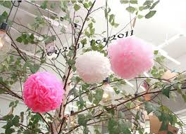 blooms flowers 2017 decorative flowers tissue paper pom poms paper lantern pom