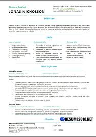 financial analyst resume finance analyst resume templates 2018 resume 2018