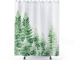 Shower Curtains With Trees Trees Shower Curtain Etsy