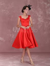 red cocktail dresses 1950 u0027s vintage queen anne neckline pleated a