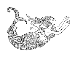 swimming mermaid by lian2011 water worlds coloring pages for