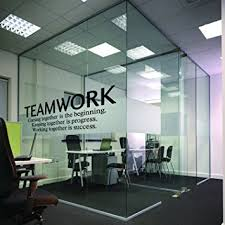 office wall art amazon com n sunforest quotes wall decal teamwork definition