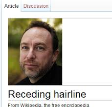 Receding Hairline Meme - image 224434 wikipedia donation banner captions know your meme