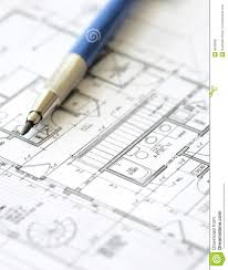 house plan blueprint architect design royalty free stock image
