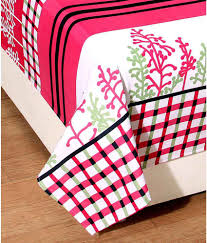 Cotton Single Bed Sheets Online India Bsb Trendz Cotton Single Bedsheet With 1 Pillow Cover Buy Bsb