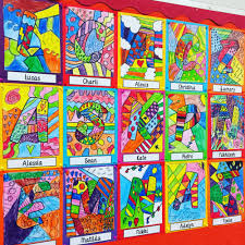 romero britto romero britto inspired art activities teach starter blog