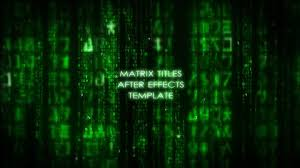 matrix movie end credits free after effects template