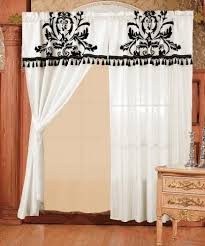 Black Curtains With Valance Black And White Curtains For Living Room Amazon Com