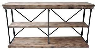 wood and metal console table industrial metal console table collection la metal and wood console