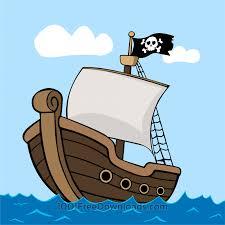 free vectors pirate ship on sea vintage
