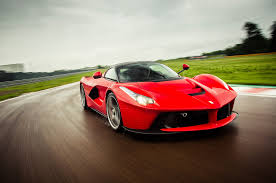 fastest ferrari ferrari laferrari front three quarters in motion on track