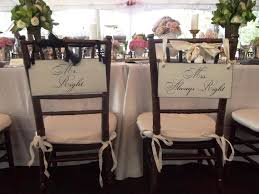 wedding chair signs wedding signs mr right mrs always right by ourhobbytoyourhome