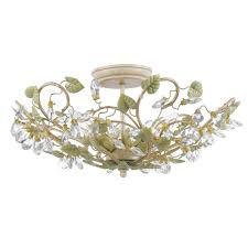 crystal semi flush mount lighting semi flush ceiling lighting style nature inspired goinglighting