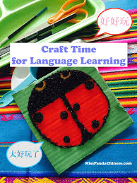 craft time for language learning black sesame ladybug miss panda