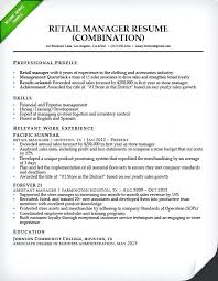 retail sales manager resume experience resume store manager resume exles