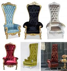 King And Queen Throne Chairs Foshan Factory Wood Throne Chair King Chair High Back Sofa Chair