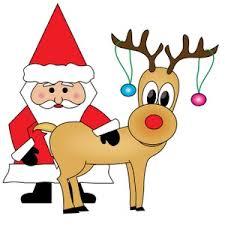 free santa reindeer clipart 47