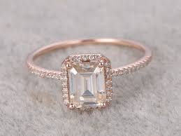 vintage emerald cut engagement rings emerald cut moissanite engagement diamond wedding ring 14k