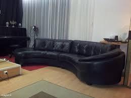 canapé demi cercle canapé en cuir noir demi rond igopher fr