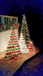 where to buy cheap christmas lights a bunch of scrap wood pieces painted in green and red are more than