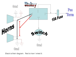 image gallery horn relay wiring
