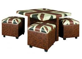 coffee table and stool set union jack table with 4 storage stool set