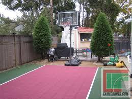 recreational courts versasport of kansas backyard basketball court
