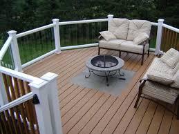 new deck fire pit put this a trex deck decks u0026 fencing contractor