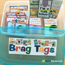 Student Desk Plates by How To Set Up Brag Tags In The Classroom Teach Starter Blog