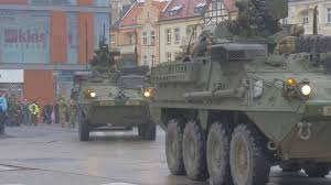 old military vehicles panzers on a square opole poland parade atlantic resolve operation