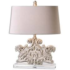 Uttermost Table Uttermost Schiavoni Ivory Stone Table Lamp 26658