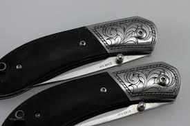 pocket knife engraving engraved kershaw pocket knives david sheehan engraver