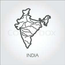 map of india icon in cartoon style isolated on white background