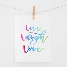 live laugh love live laugh love watercolor print jenmanship