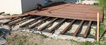 le de terrasse encastrable terrasse en bois sur plot beton 4 terrasse bois fondation forum