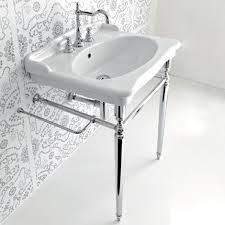 sink with metal legs hermitage 92 console basin with metal legs parisi bathware and