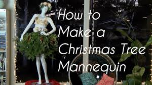 Black Tree Skirts Christmas Tree Mannequin Youtube