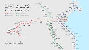 Dart Dallas Map Homes Near Luas Cross City Train Stops Spike 15 Percent In Ireland